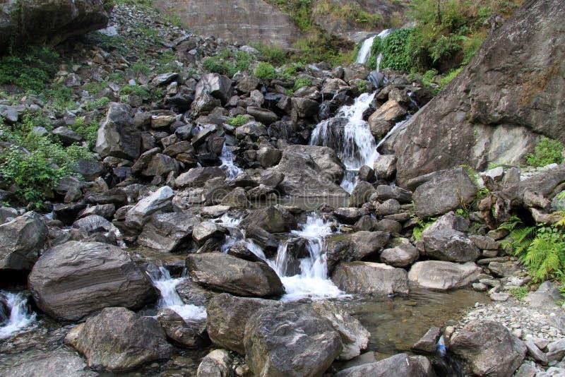 Rzeka i skały obrazy royalty free
