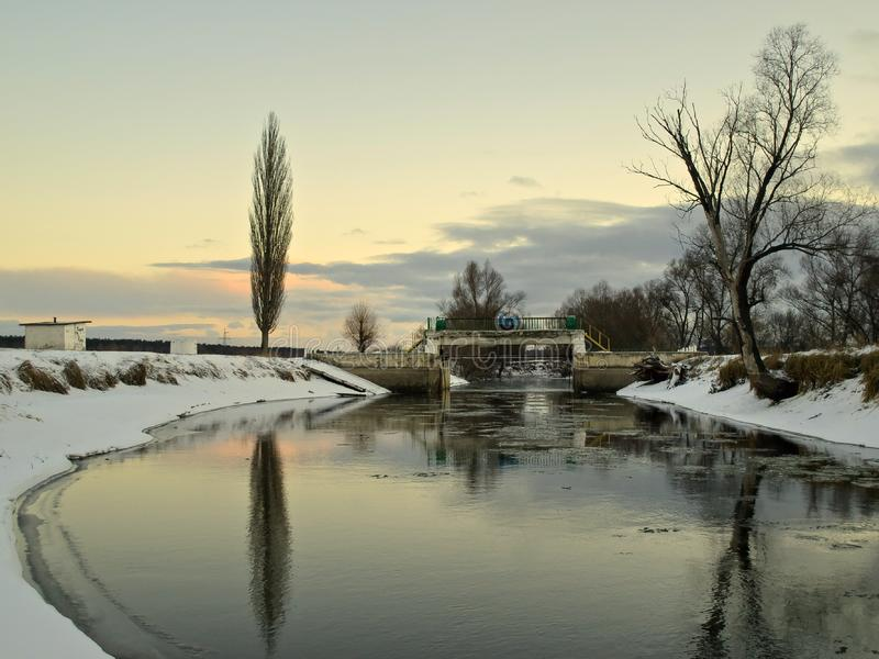 Rzeka irpen obrazy royalty free