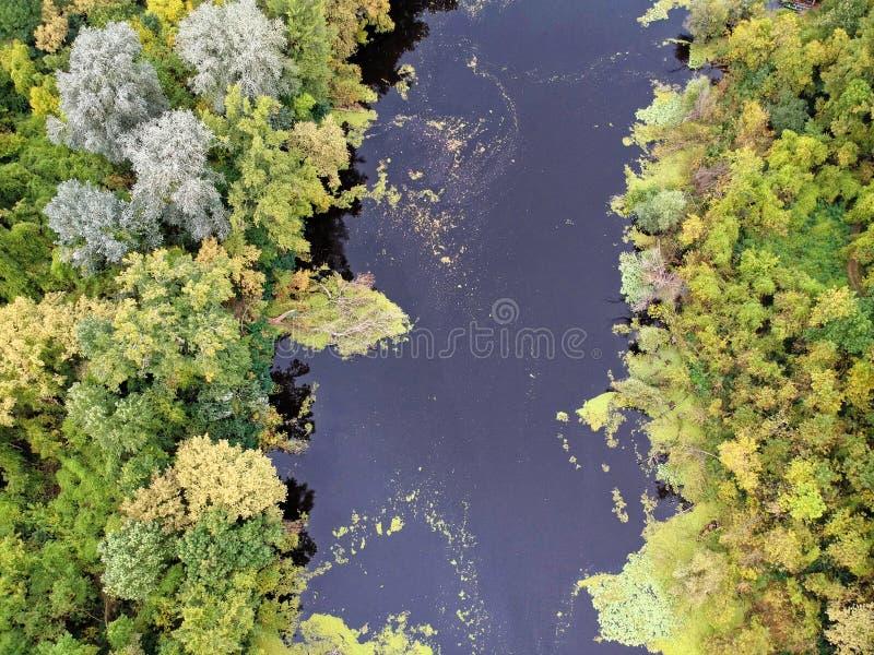Rzeka krajobraz w Węgry zdjęcia stock
