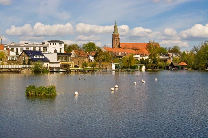rzeka miasta obraz royalty free