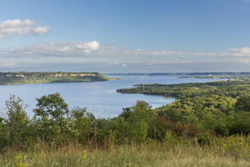 Rzeka Mississippi Jeziorny Pepina Sceniczny zdjęcia royalty free
