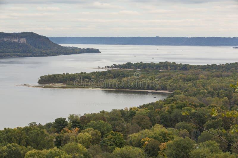 Rzeka Mississippi jezioro Pepina obraz royalty free