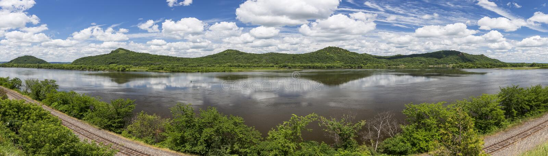 Rzeka Mississippi Panoramiczna fotografia stock