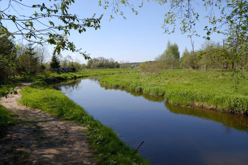 rzeka niebo zdjęcia stock