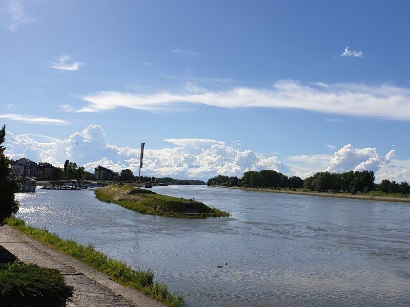 Rzeka Osijek, Chorwacja fotografia royalty free
