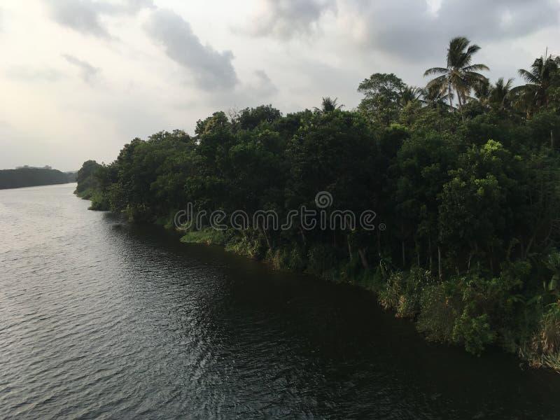 Rzeka piękny widok fotografia royalty free