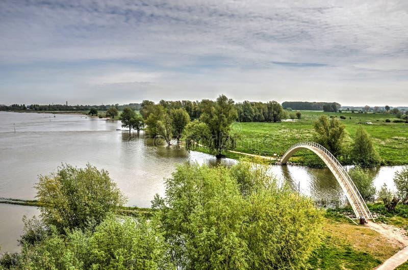 Rzeka, po, dera, most zdjęcie stock