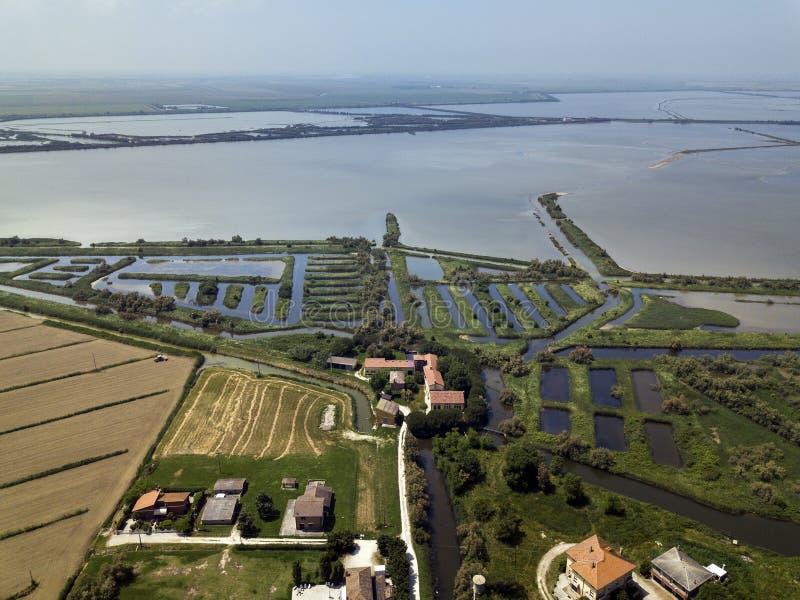 Rzeka Po Veneto Włochy obraz royalty free