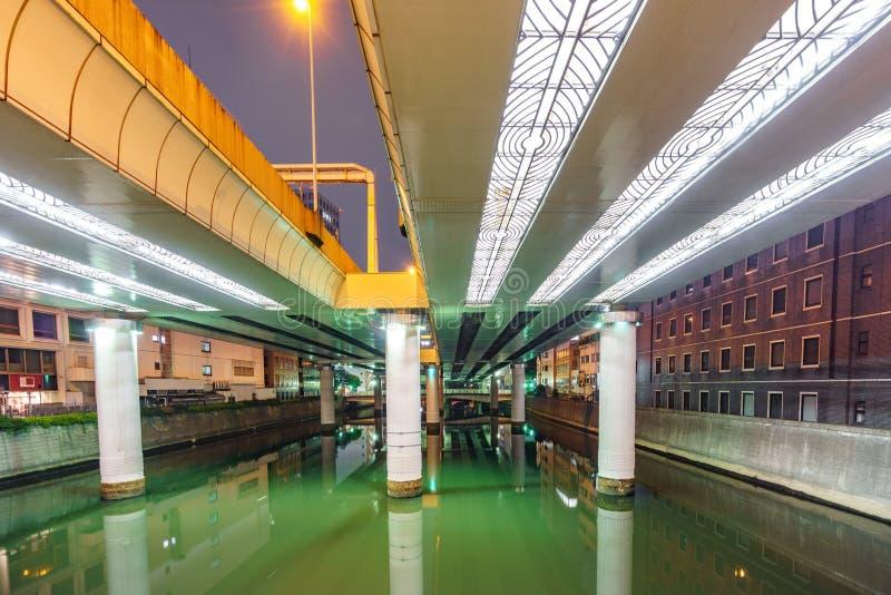 Rzeka pod mostem obrazy royalty free