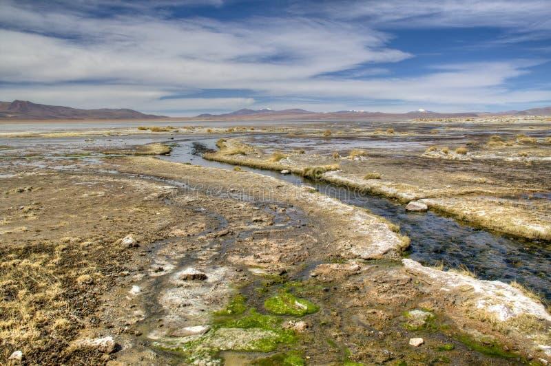 Rzeka przy średniogórzami zdjęcia royalty free