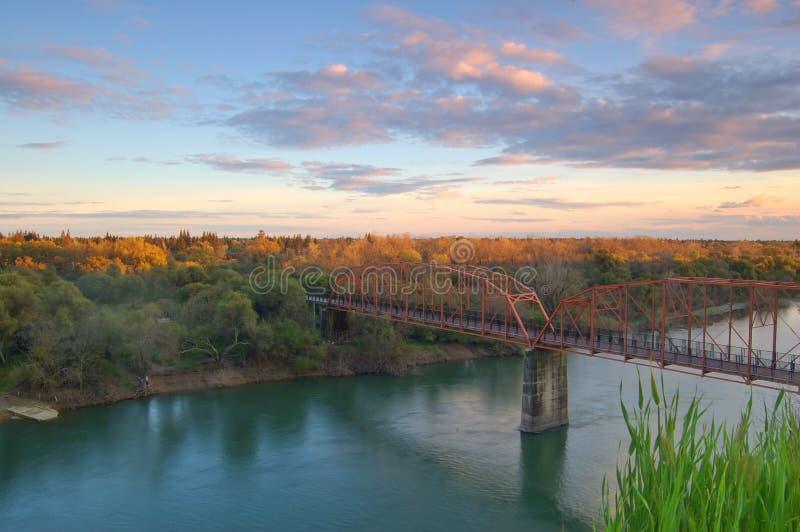 rzeka sceniczny krajobrazu zdjęcie royalty free