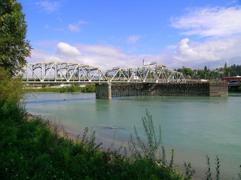 rzeka skagit mostu fotografia stock
