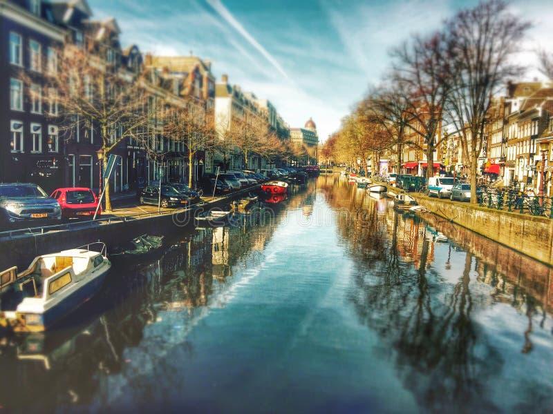 Rzeka w Amsterdam obraz royalty free