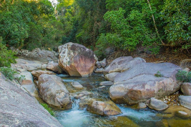 Rzeka w dżungli Vientm obraz stock
