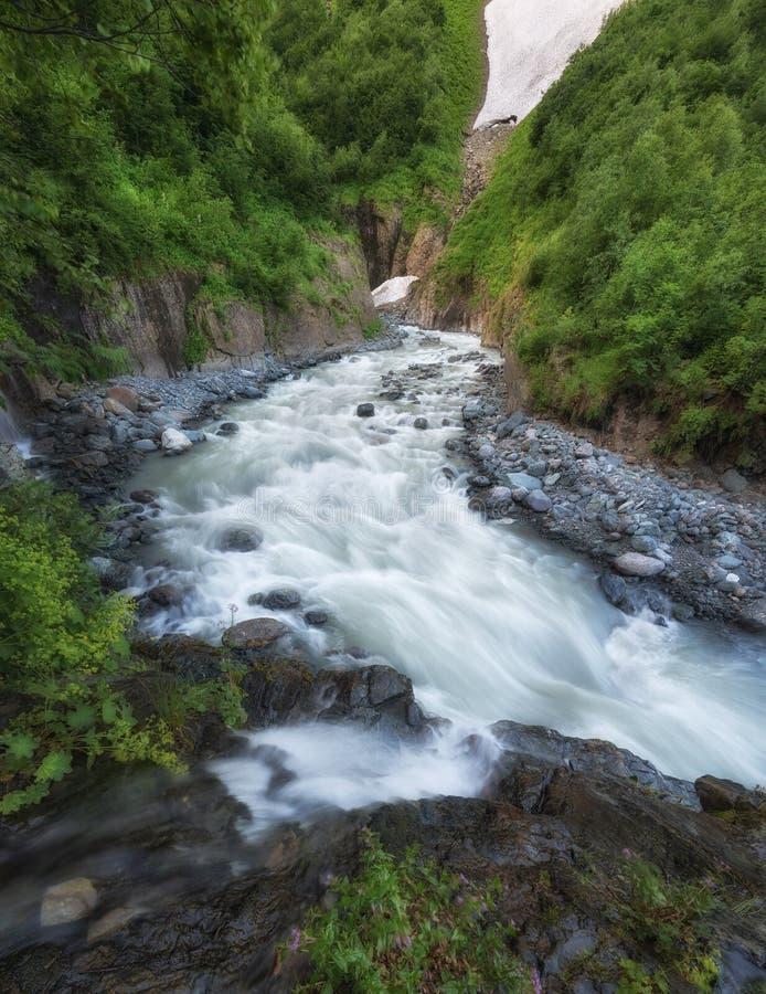 Rzeka w jarze zdjęcia royalty free