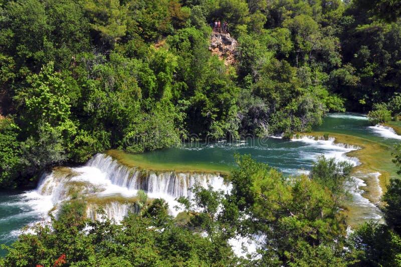 Rzeka w Skradinski Buk zdjęcie royalty free