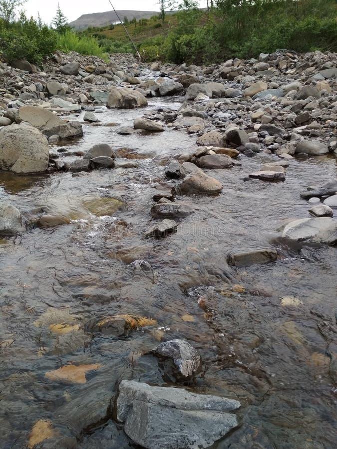 Rzeka w tundrze fotografia stock