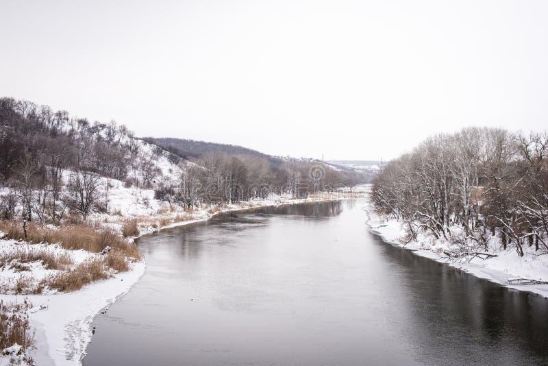 Rzeka w zimie obrazy royalty free