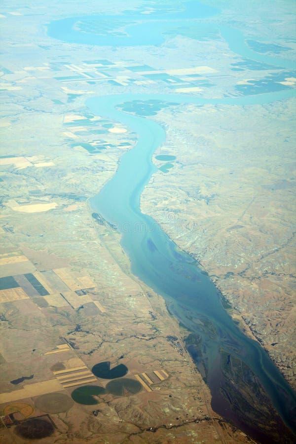 rzeka widok lotniczego obraz stock
