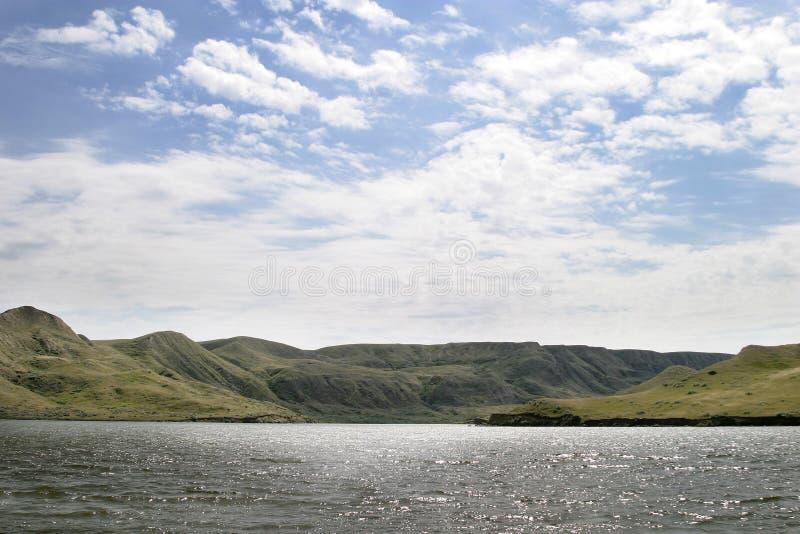 rzeka wzgórza obrazy stock