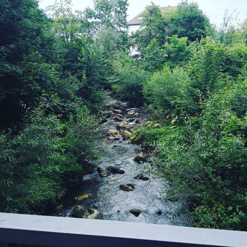 Rzeka (Zły Nauheim) fotografia stock