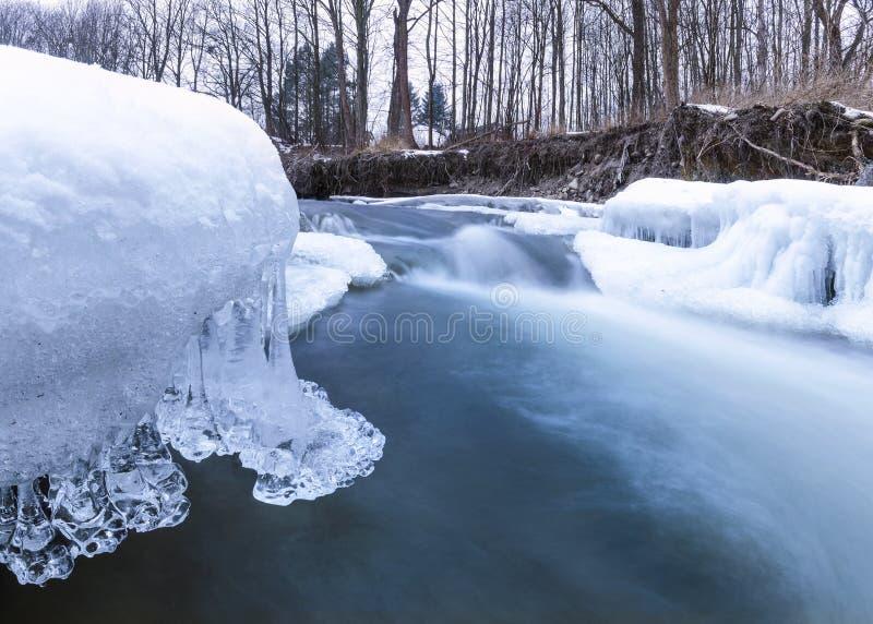 Rzeka z lodem zdjęcie stock