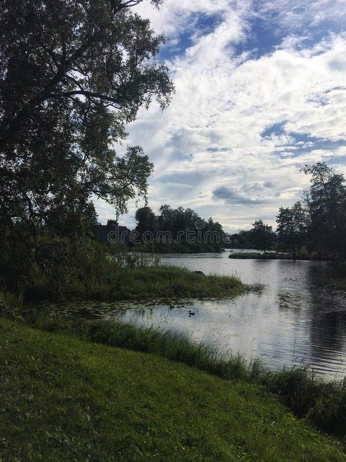 Rzeki i jeziora Karelia zdjęcie royalty free