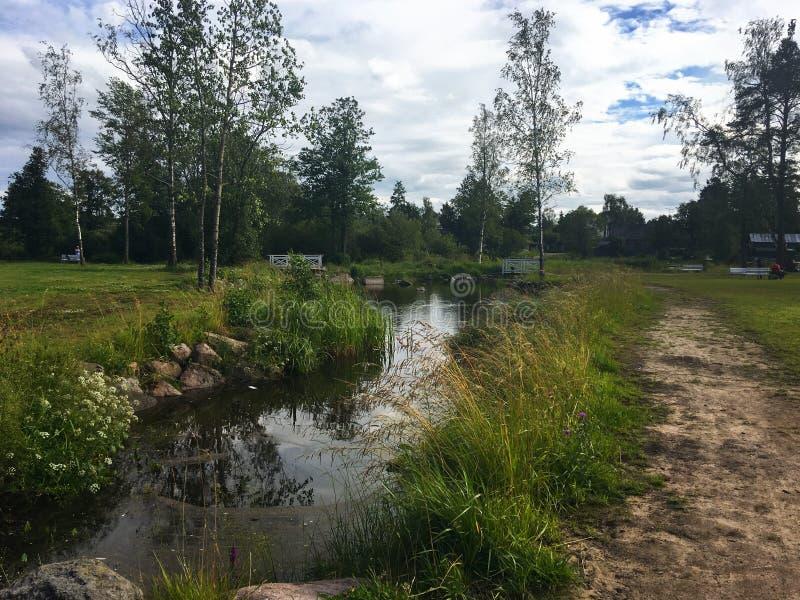 Rzeki i jeziora Karelia zdjęcia royalty free