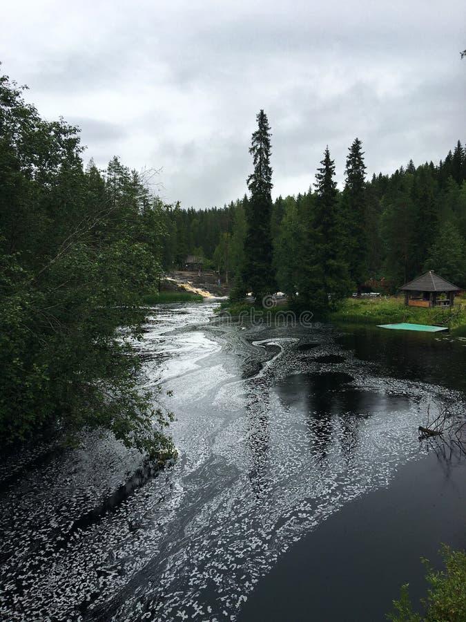 Rzeki i jeziora Karelia obrazy royalty free