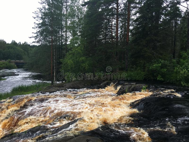 Rzeki i jeziora Karelia fotografia stock
