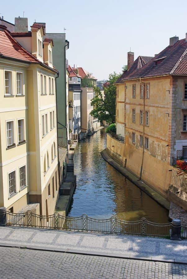 rzeki kanałowy vltava s zdjęcie stock