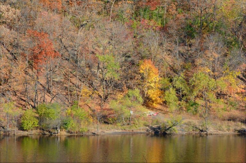 Rzeki Mississippi jesieni sceneria zdjęcia stock