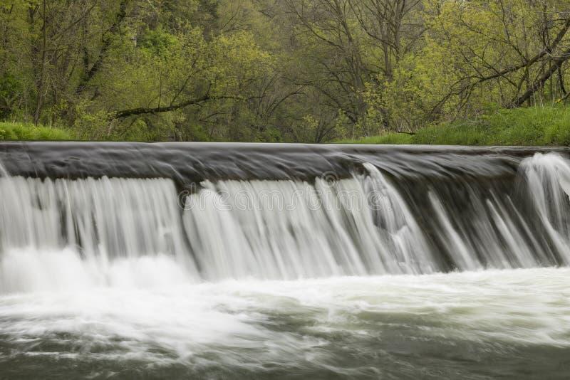 Rzeki tama W wiośnie zdjęcie stock