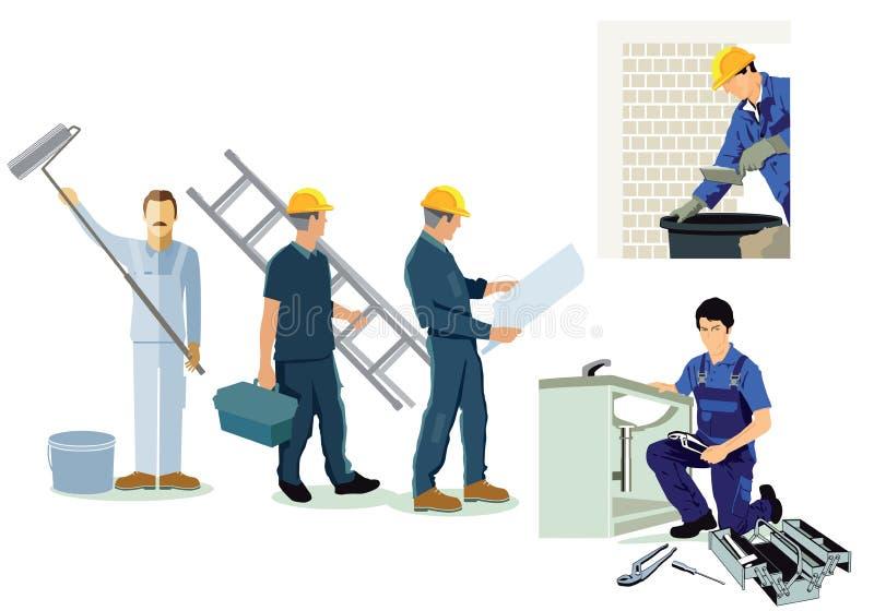 Rzemieślnik, installer, hydraulik ilustracja wektor