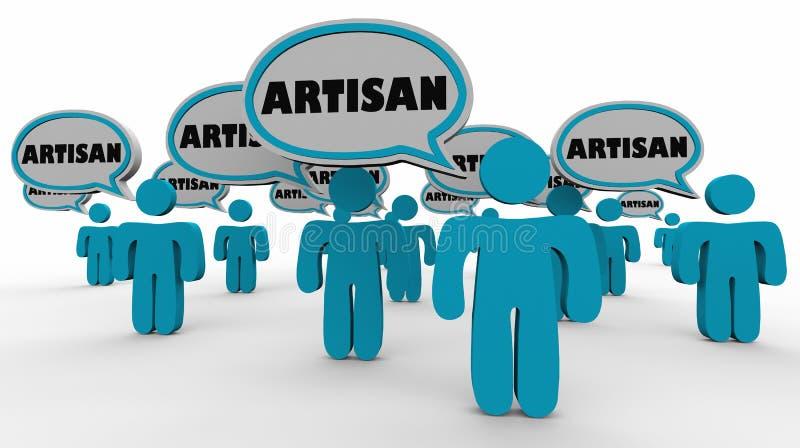 Rzemieślnik mowy ludzie Gulgoczą artystów rzemiosła ilustracji