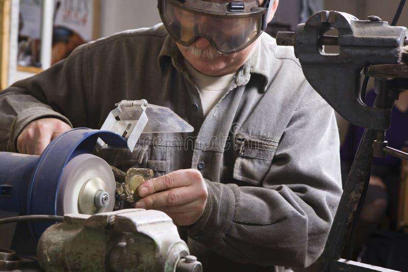 Rzemieślnik Pracuje Z kamieniem obrazy royalty free