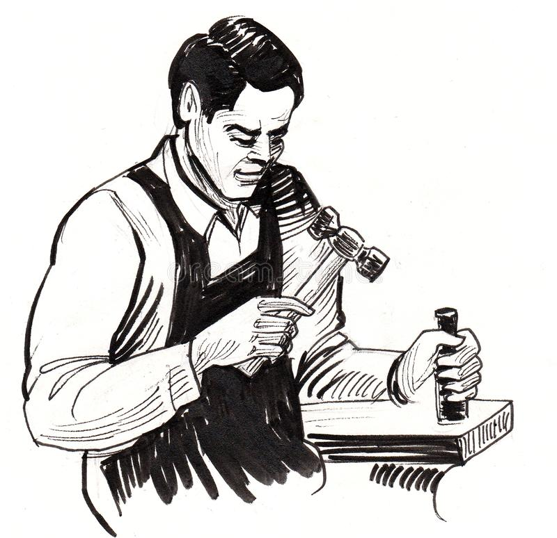Rzemieślnika nakreślenie royalty ilustracja