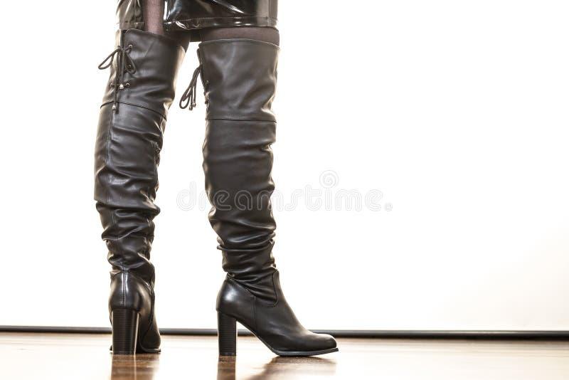 Rzemienna wysoko?? heeled but?w buty obrazy royalty free