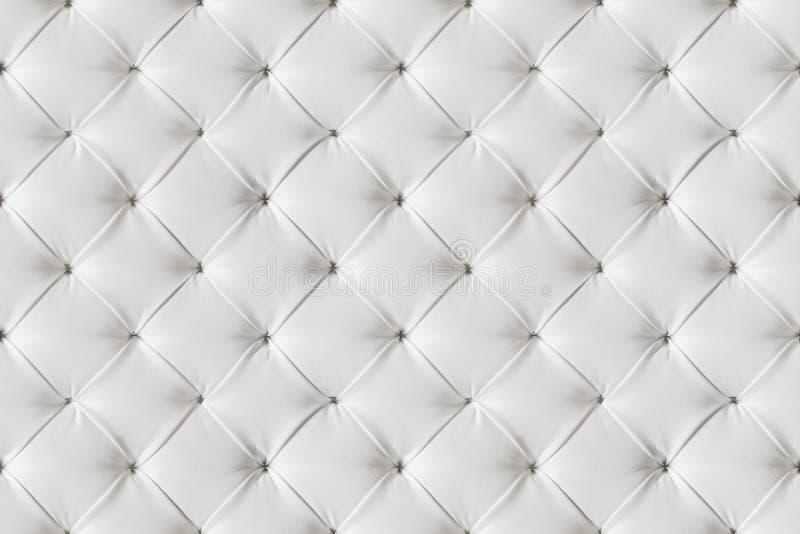 Rzemiennej kanapy tekstury Bezszwowy tło, Białych skór wzór obrazy stock
