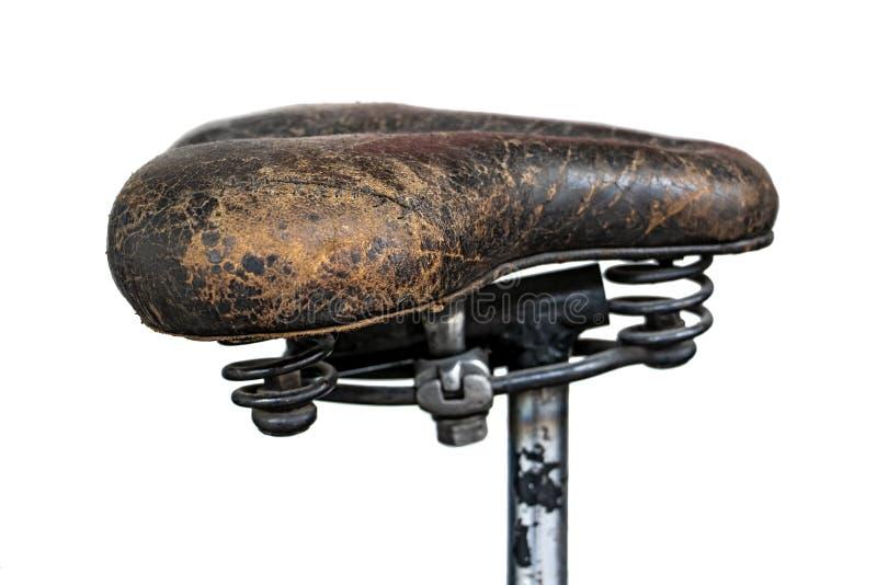Rzemienny comber na starym motocyklu zdjęcia royalty free