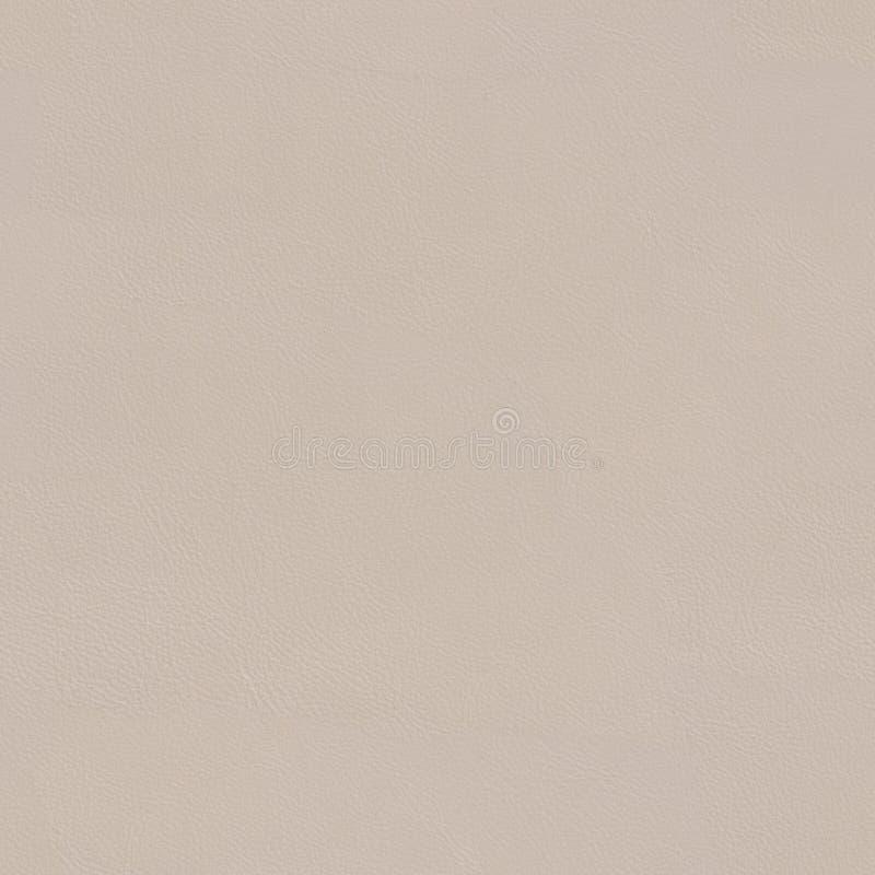 Rzemienny tekstury beżowy rzemienny zakończenie Bezszwowy kwadratowy tło, płytka obraz royalty free