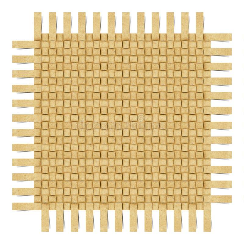 rzemiosła papier przetwarzający weave ilustracji