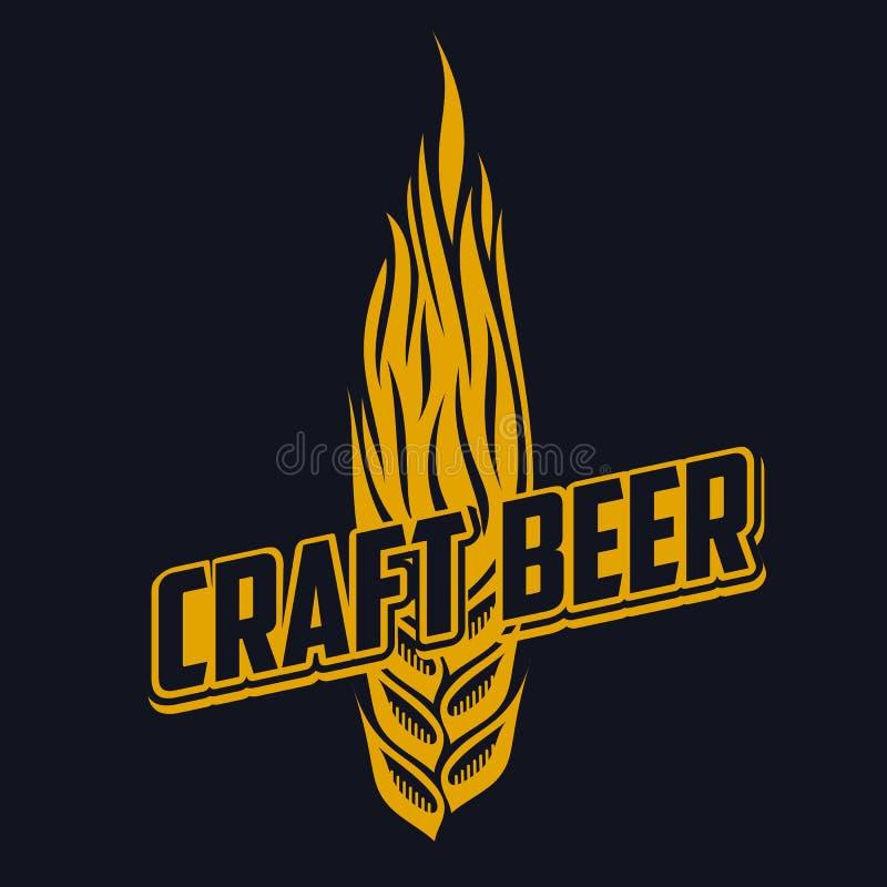 Rzemiosła piwa logo ilustracja wektor