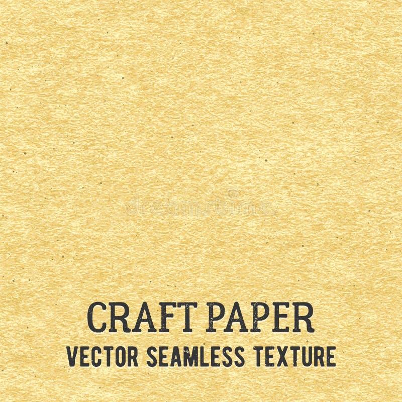 Rzemiosło papierowa bezszwowa wektorowa tekstura ilustracji