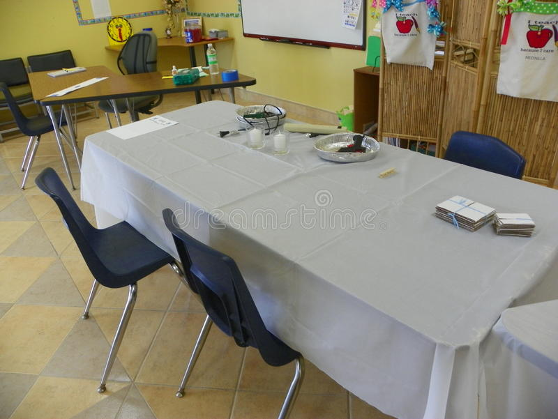 Rzemiosło sala lekcyjnej Warsztatowy ustawianie obrazy royalty free