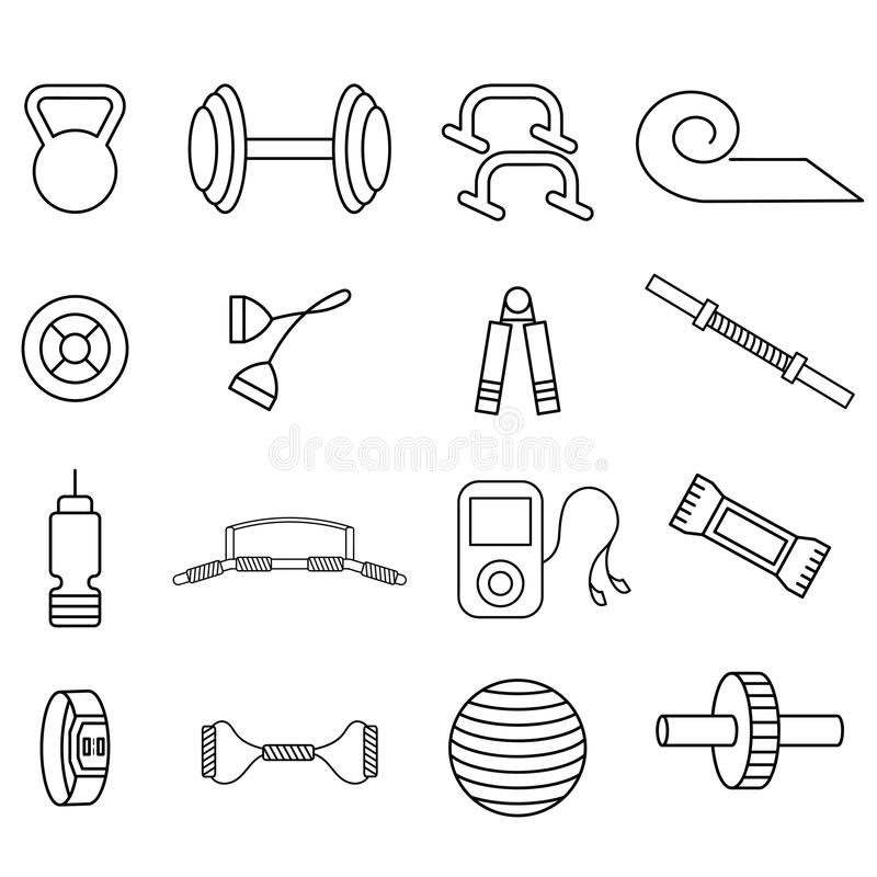 rzemiosło wektorowe ikony ustawiać sprawność fizyczna temat ilustracja wektor