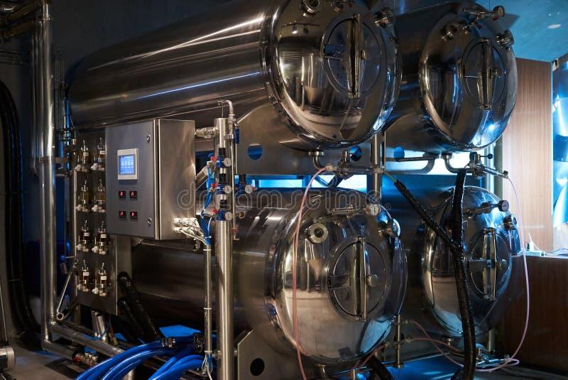 Rzemios?o produkcji piwny browar prywatnie, w g?r? obraz royalty free