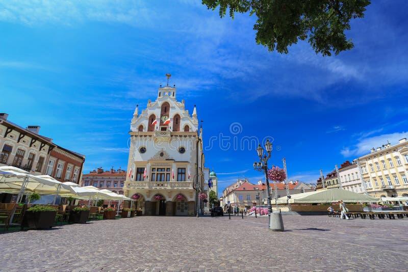 Rzeszow - den historiska mitten - Polen fotografering för bildbyråer