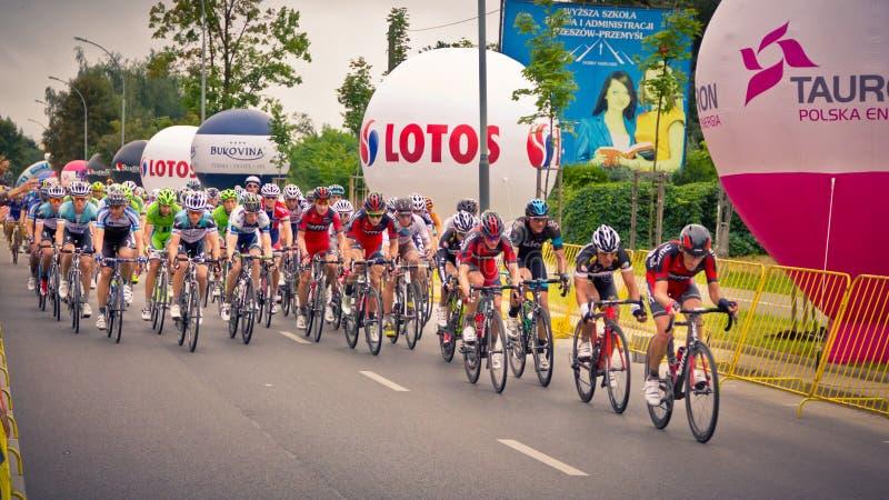RZESZOW, POLÔNIA - 30 DE JULHO: Excursão de Pologne da raça de ciclismo, fase 3 imagens de stock