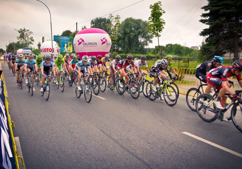 RZESZOW, POLÔNIA - 30 DE JULHO: Excursão de Pologne da raça de ciclismo, fase 3 imagem de stock